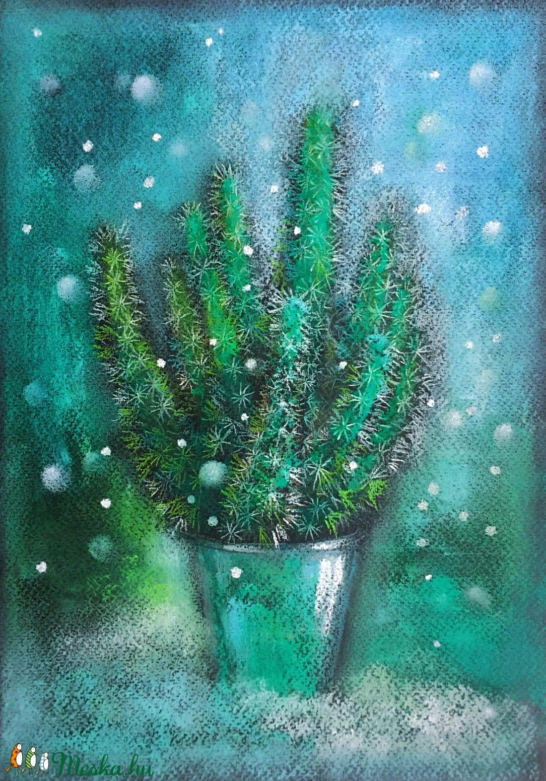 Kaktusz hóesésben (PostaAliz) - Meska.hu