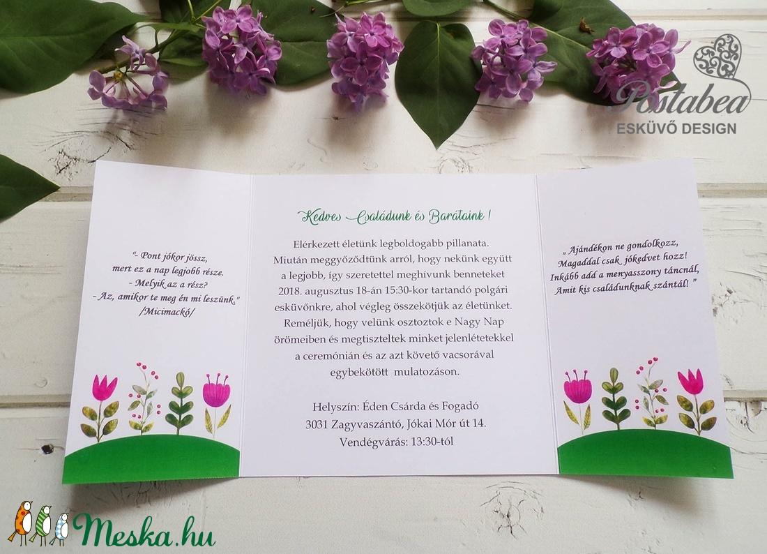 Rókapár - erdei esküvői meghívó (Postabea) - Meska.hu 4f1dd5c9dc