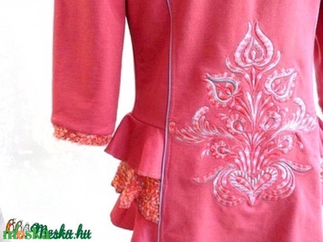 Hímzett kabátka - ruha & divat - női ruha - kabát - Meska.hu