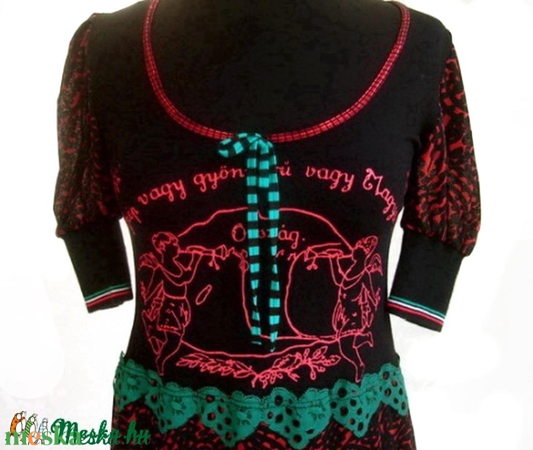 'Szép vagy gyönyörű vagy'tunika - ruha & divat - női ruha - tunika - Meska.hu