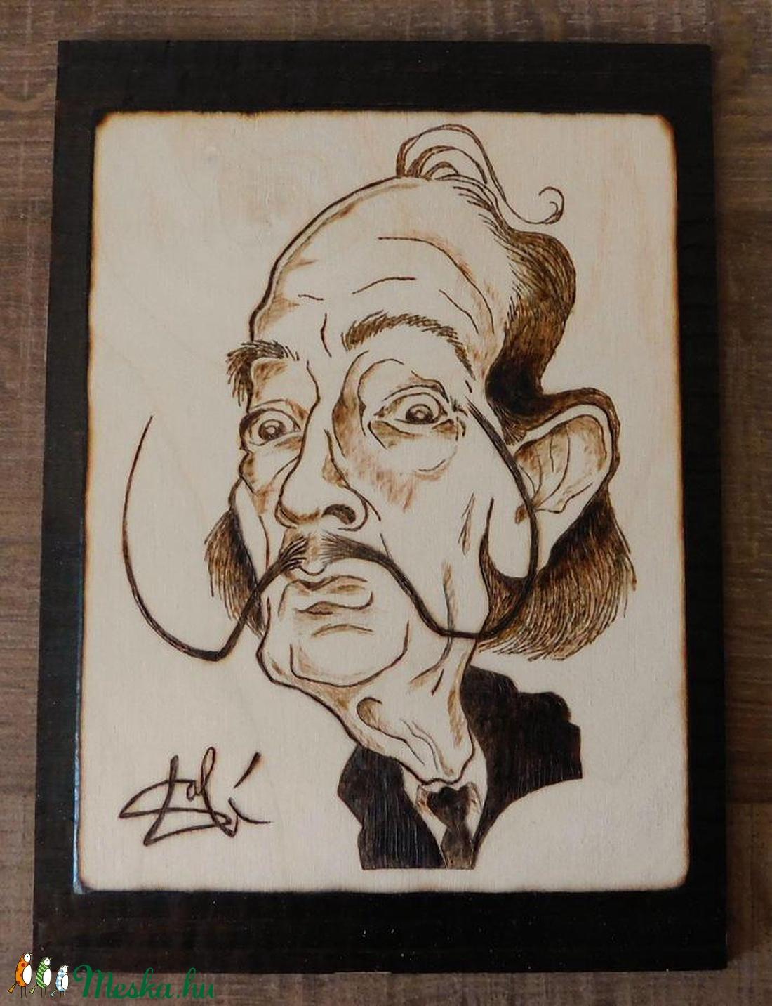 Salvador Dali - kézzel égetett, pirografált kép (PyroProducts) - Meska.hu
