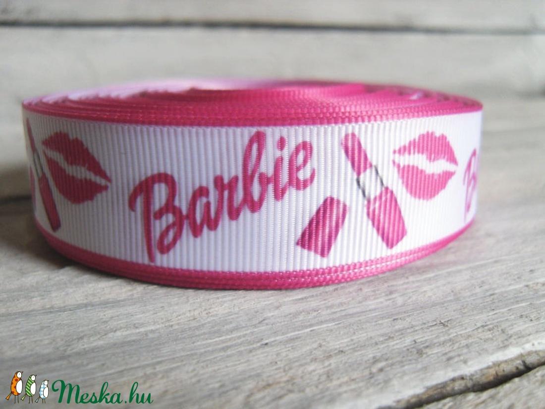 Barbie Rúzs mintás Grosgrain szalag - 22mm (rampampuli) - Meska.hu