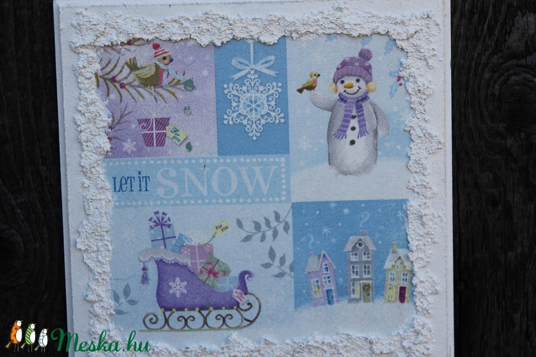 Hóemberke, táblakép, dekoráció. :-) - karácsony - karácsonyi lakásdekoráció - Meska.hu