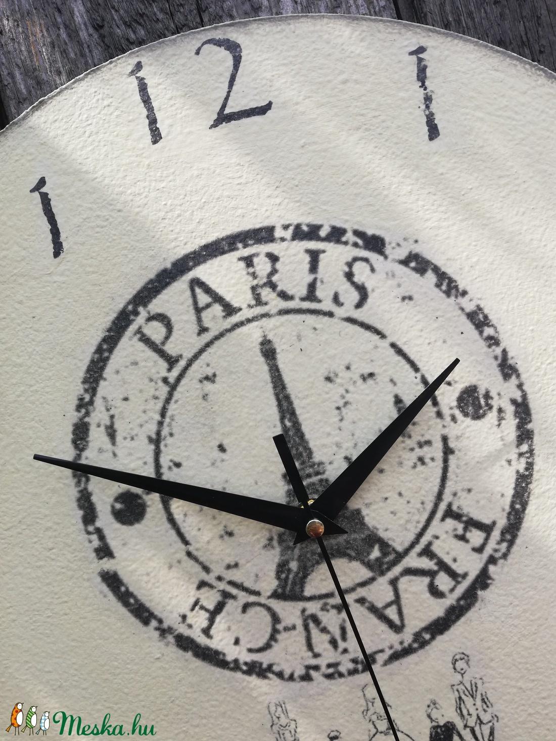 Párizsban a barátokkal-falióra, transzferálva. :-) - otthon & lakás - dekoráció - falióra & óra - Meska.hu