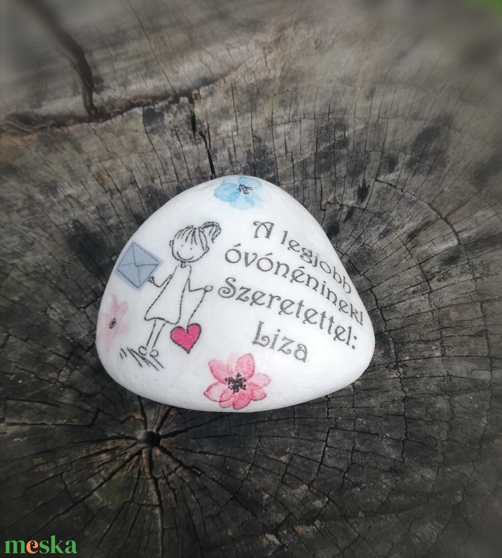 Ovis ballagásra, feliratos kő, személyes motívumokkal. :-) - Meska.hu