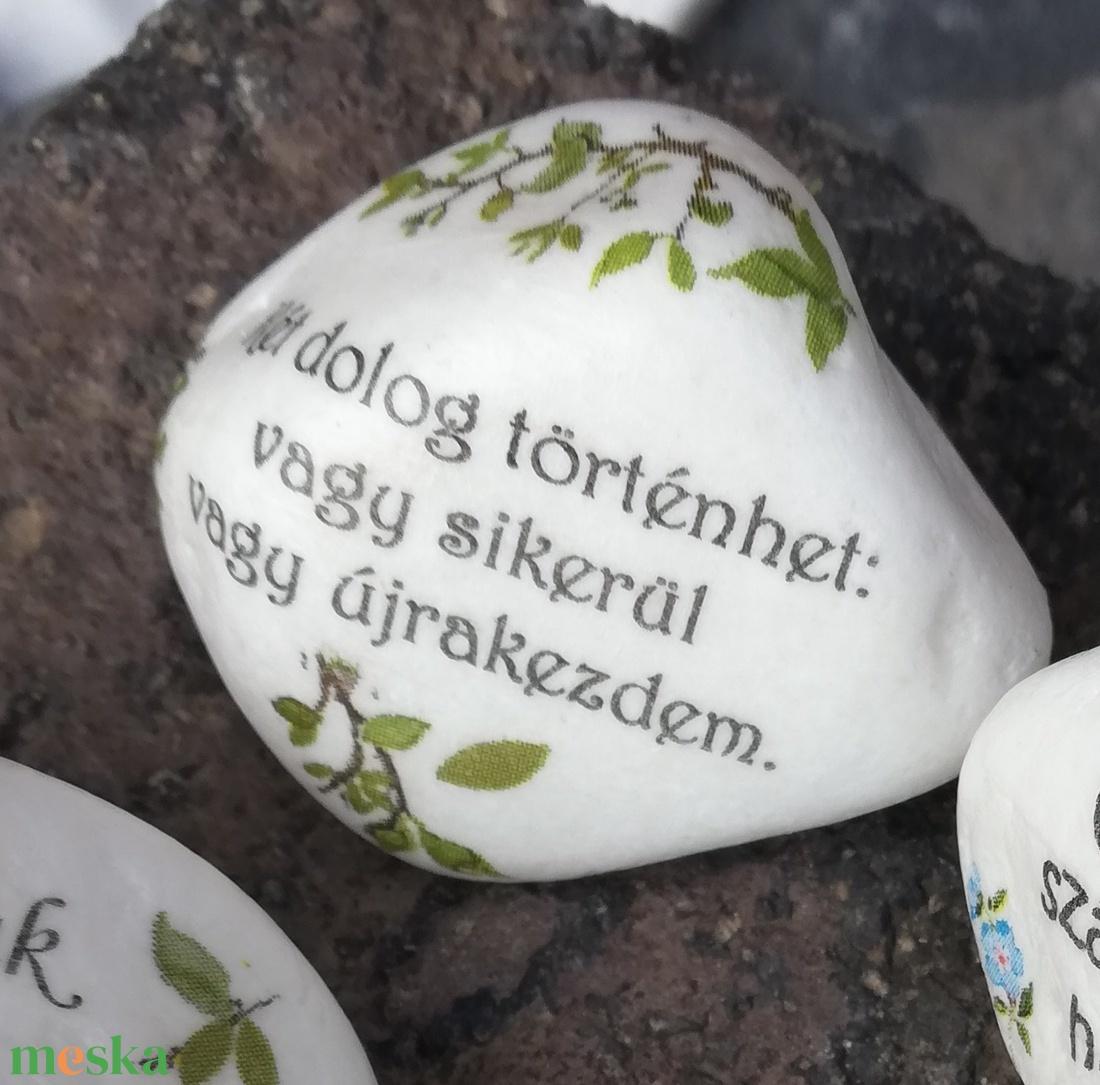 Motivációs kavicsok, feliratokkal. :-) - Meska.hu