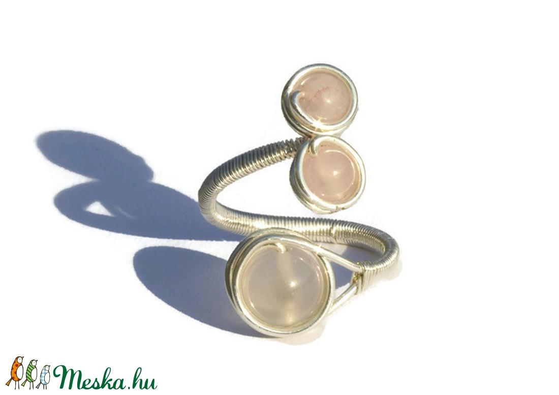 Rózsakvarc gyűrű (Revans) - Meska.hu