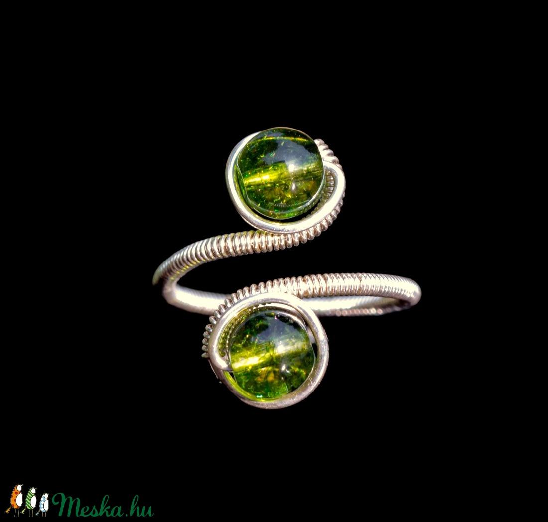 Ezüst peridot gyűrű (Revans) - Meska.hu