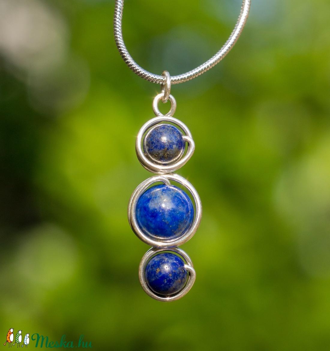 Ezüst lapis lazuli medál (Revans) - Meska.hu