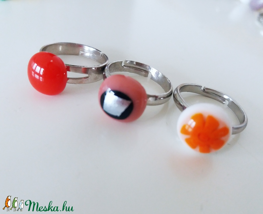 Piroska  üveggyűrű csomag kis hölgyeknek (ritakata) - Meska.hu