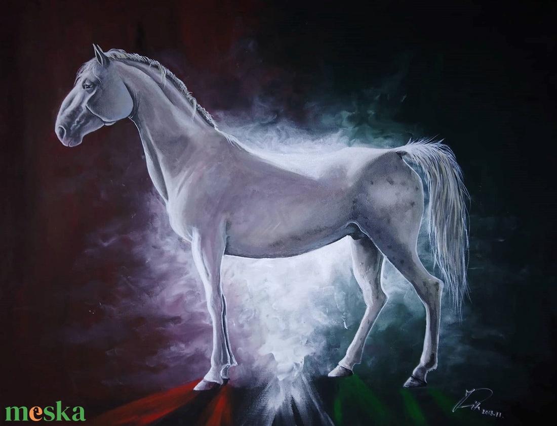 Lipicai Akril festmény (Rittanddel) - Meska.hu