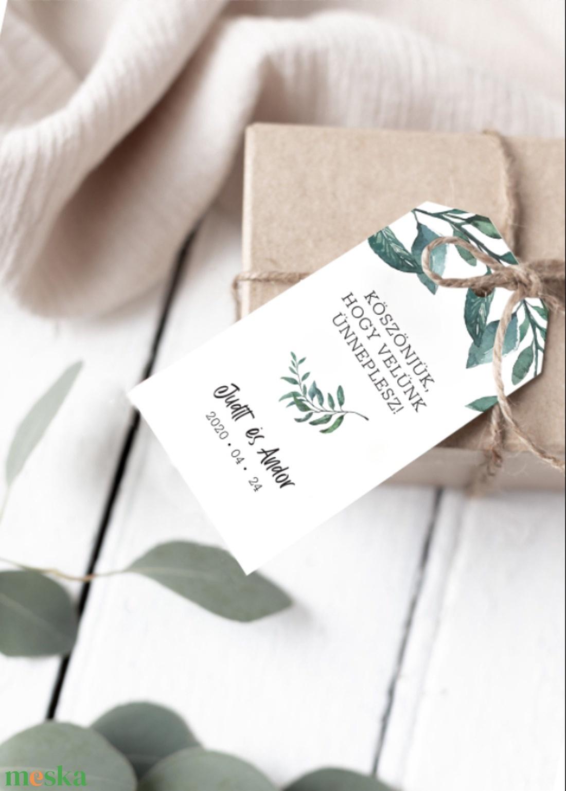 GREENERY kísérő kártya - esküvő - meghívó & kártya - meghívó - Meska.hu