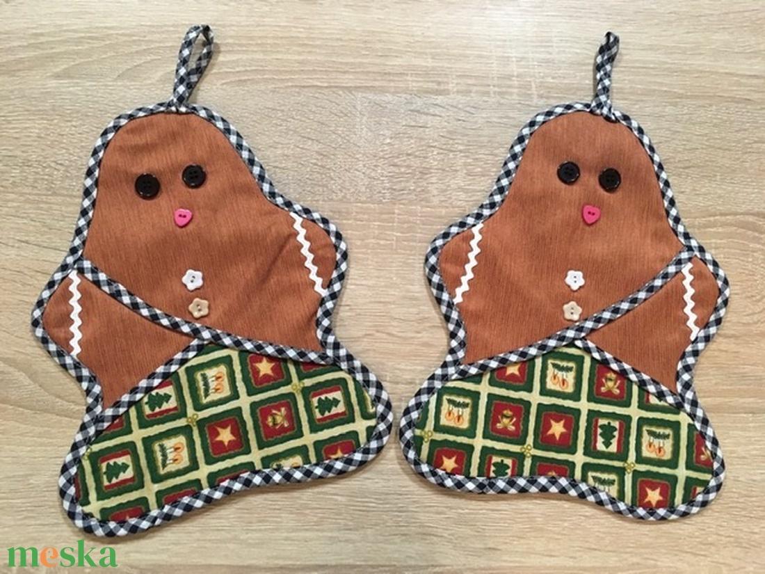 Karácsony júliusban - Mézeskalács babák/ sütőkesztyű- dekoráció - Meska.hu