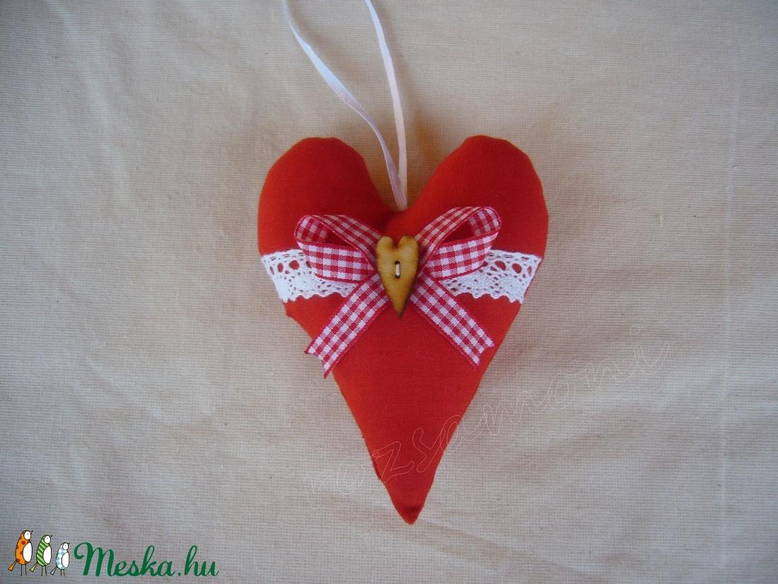 Piros szív 9x13cm (rozsamoni) - Meska.hu