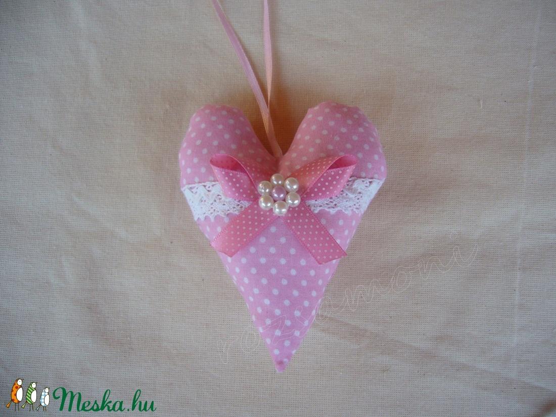 Rózsaszín szív 9x13cm (rozsamoni) - Meska.hu
