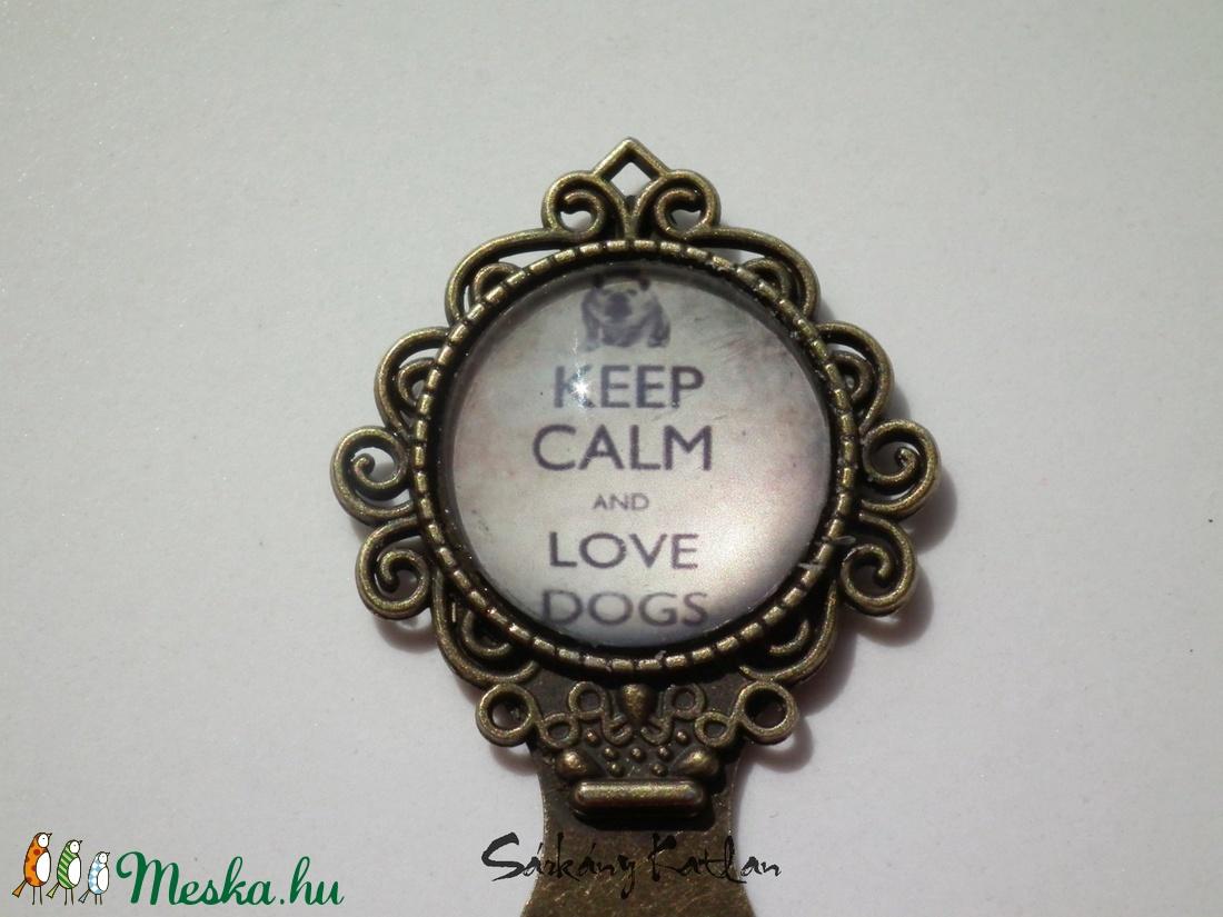 Keep calm and love dogs csiptetős könyvjelző - otthon & lakás - papír írószer - könyvjelző - Meska.hu