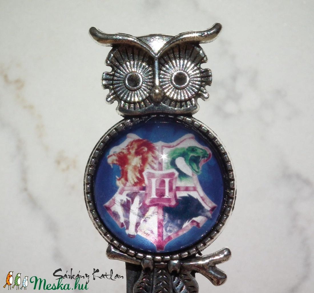 Harry Potter, Roxfort címeres baglyos csiptetős könyvjelző - otthon & lakás - papír írószer - könyvjelző - Meska.hu
