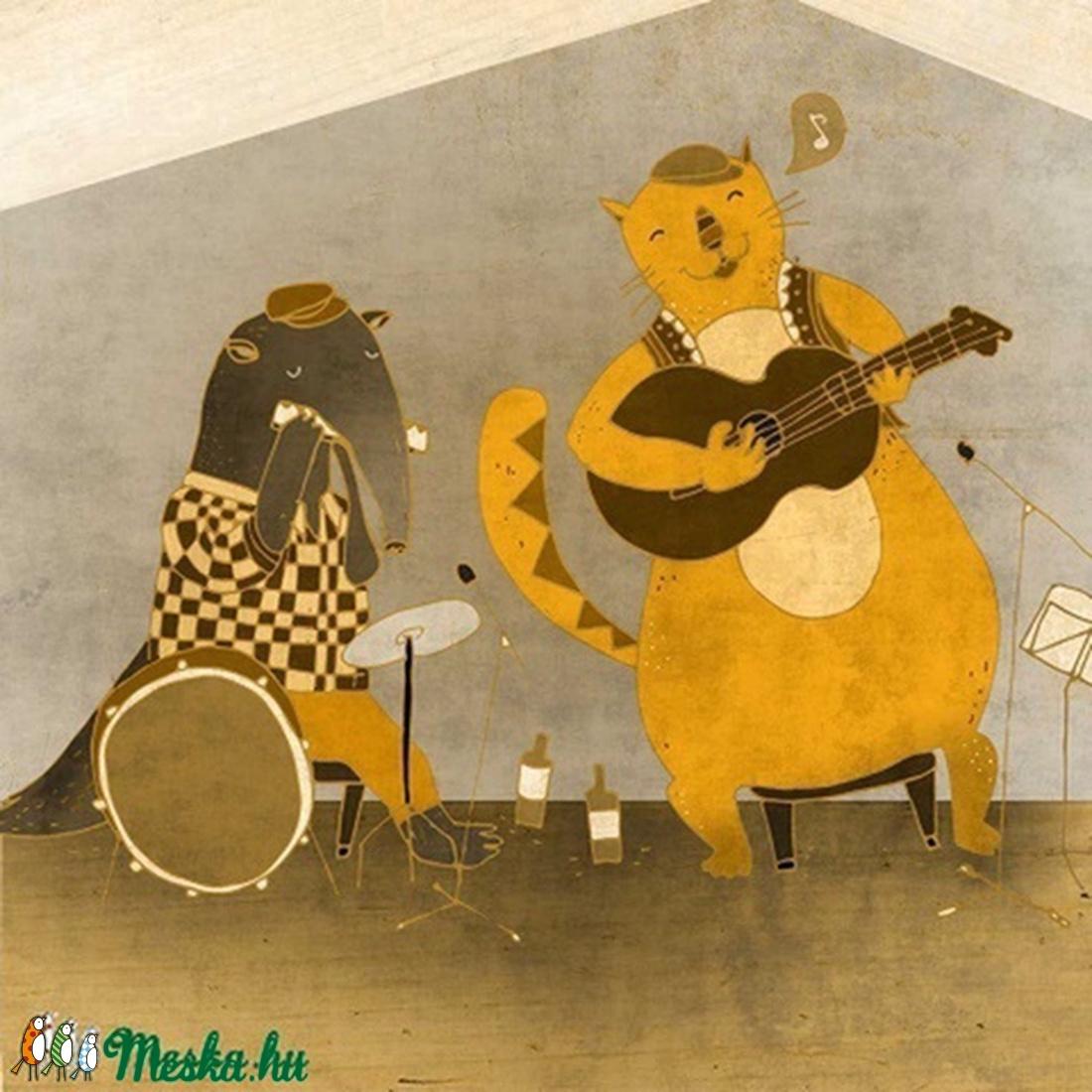 Simon és a Blues Szert'ár - illusztráció - Meska.hu