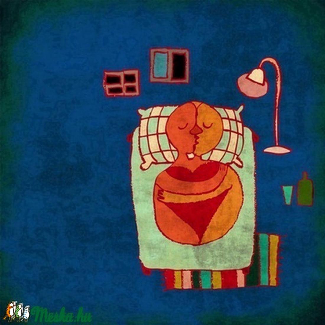 Szerelmeskedés - illusztráció, kép a hálószobába (schalleszter) - Meska.hu