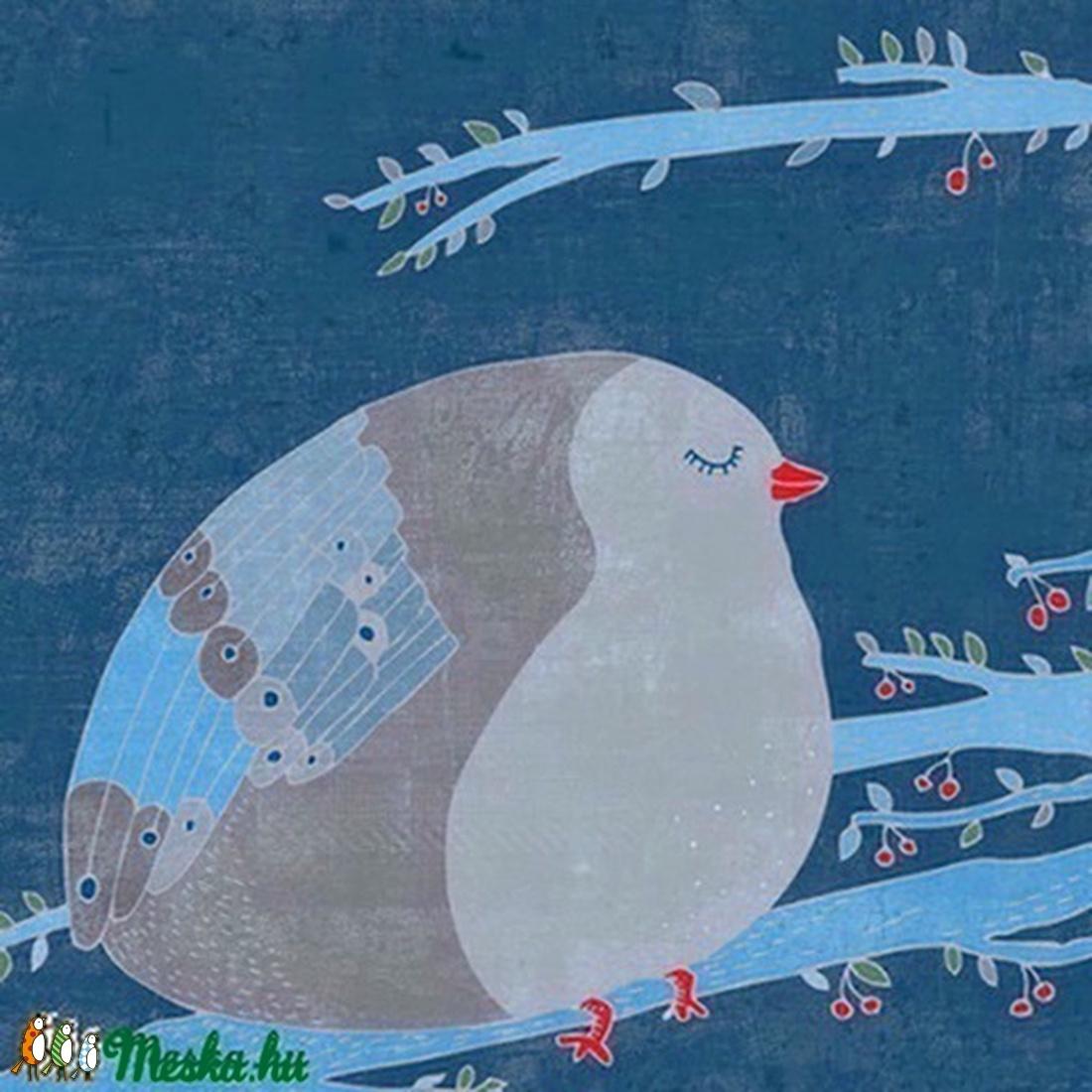 A boldogság kék madara - nyomat, illusztráció (schalleszter) - Meska.hu