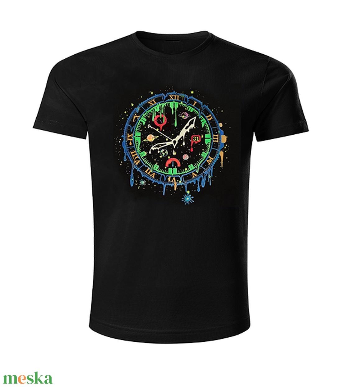 Idő univerzuma sötétben és UV-ban is világítós póló - ruha & divat - férfi ruha - póló - Meska.hu
