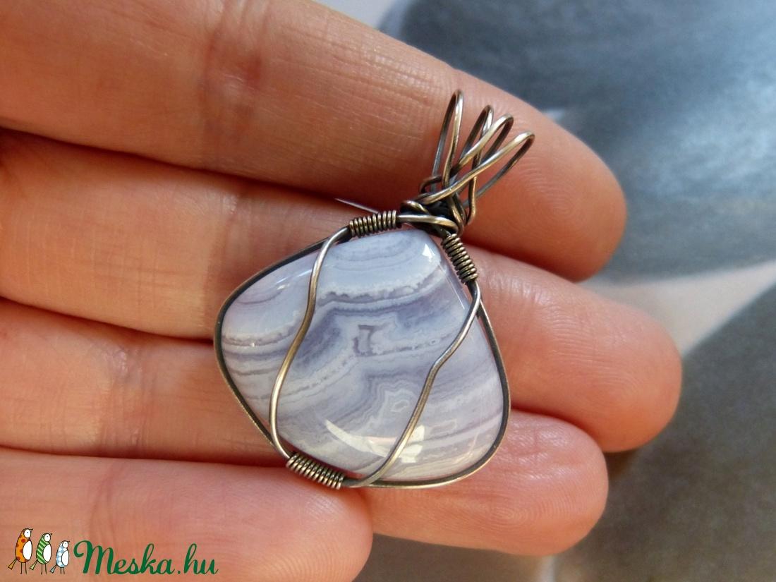 3864cc72b Csipkeachát ezüst medál (Kreagora) - Meska.hu