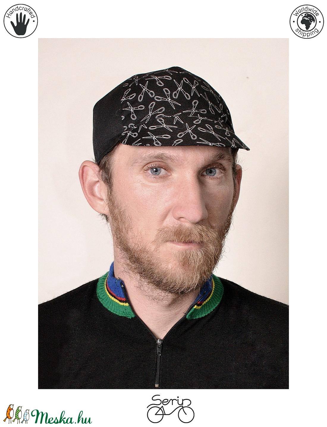 Serin  olló mintás biciklis sapka (serin) - Meska.hu