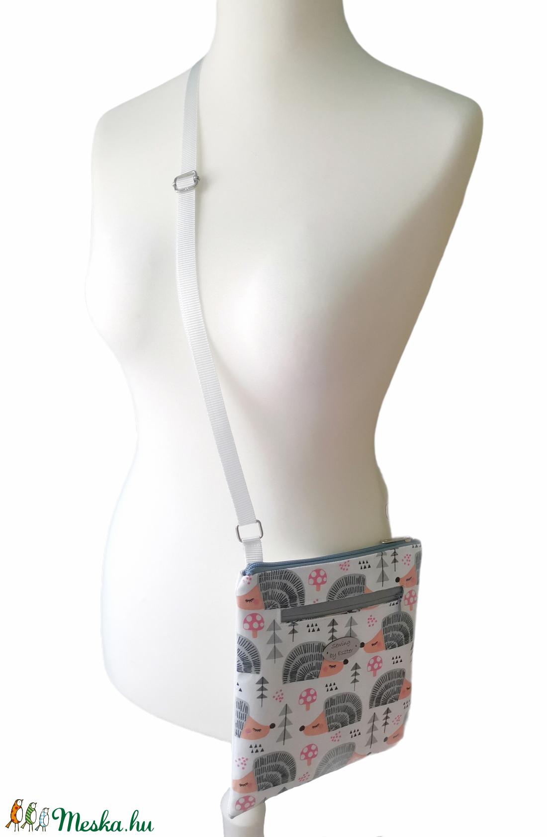Sündisznós keresztpántos laptáska - táska & tok - kézitáska & válltáska - vállon átvethető táska - Meska.hu