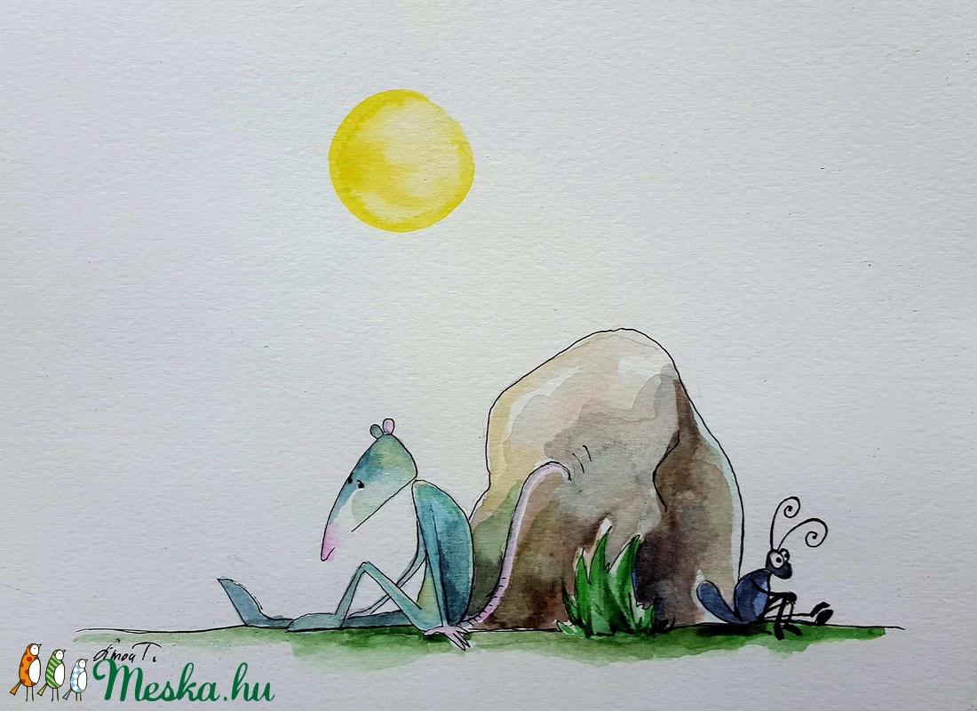 Lehet egy barátság kezdete - művészet - festmény - festmény vegyes technika - Meska.hu