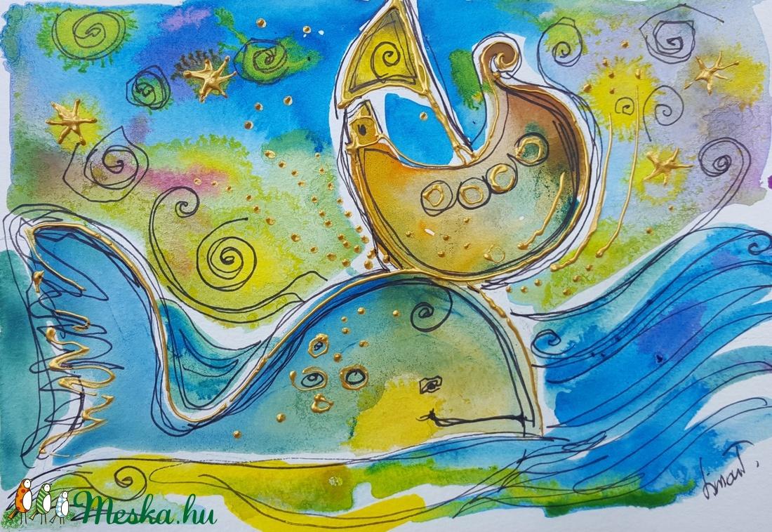 Tengeri kaland - művészet - festmény - akvarell - Meska.hu
