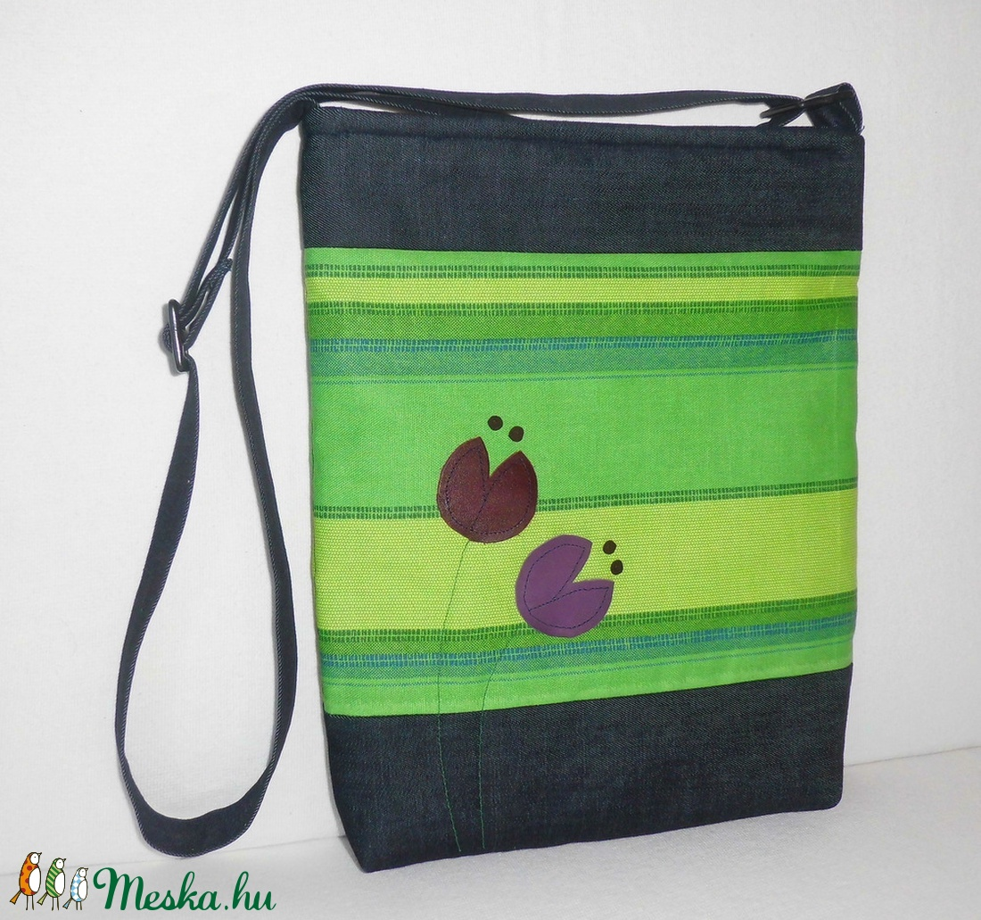 Zöld csíkos női táska (smagdi) - Meska.hu 0cc32f5bf2