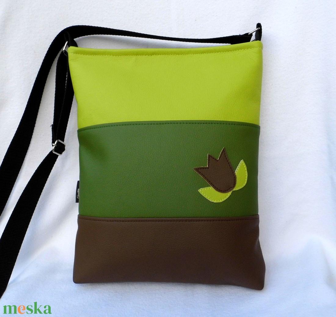 Háromszínű női táska - lime (smagdi) - Meska.hu 4333947e65