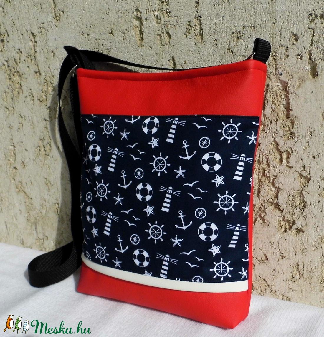 Tengerészes női táska (smagdi) - Meska.hu 35f6a43204