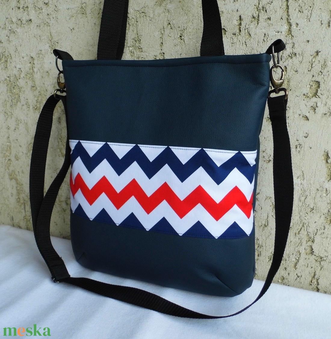 Cikk-cakkos táska matróz színekben (smagdi) - Meska.hu efa5b6c6e8