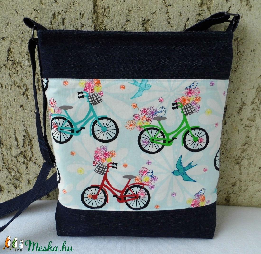 Biciklis női táska   farmer (smagdi) - Meska.hu 24a1cad1c4