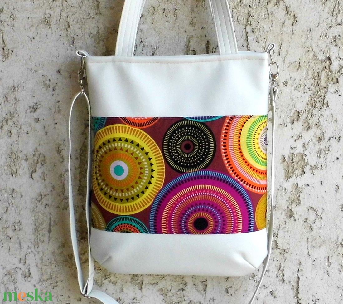 Fehér női táska mandalákkal (smagdi) - Meska.hu 5289270257