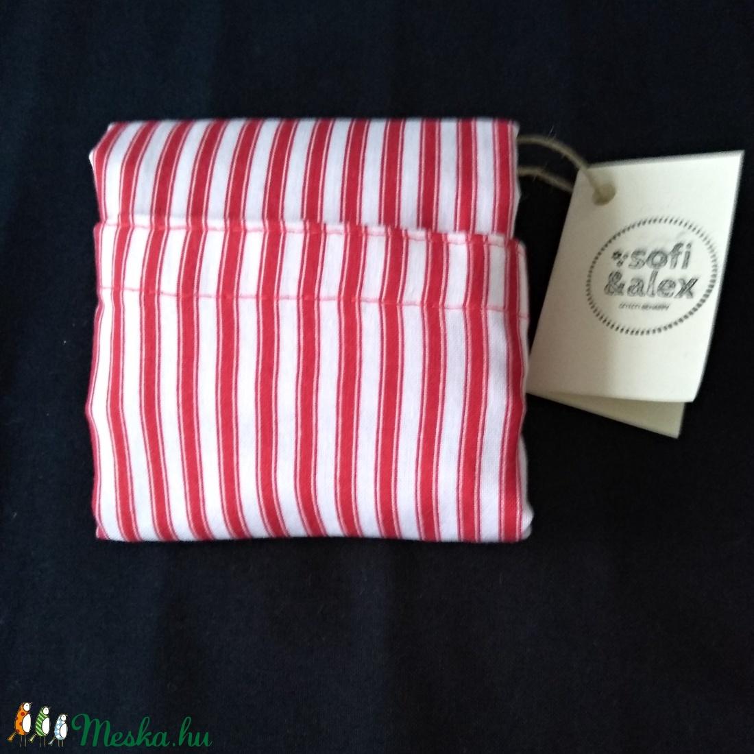 Összehajtogatható csupacsík bevásárló táska - táska & tok - bevásárlás & shopper táska - shopper, textiltáska, szatyor - Meska.hu