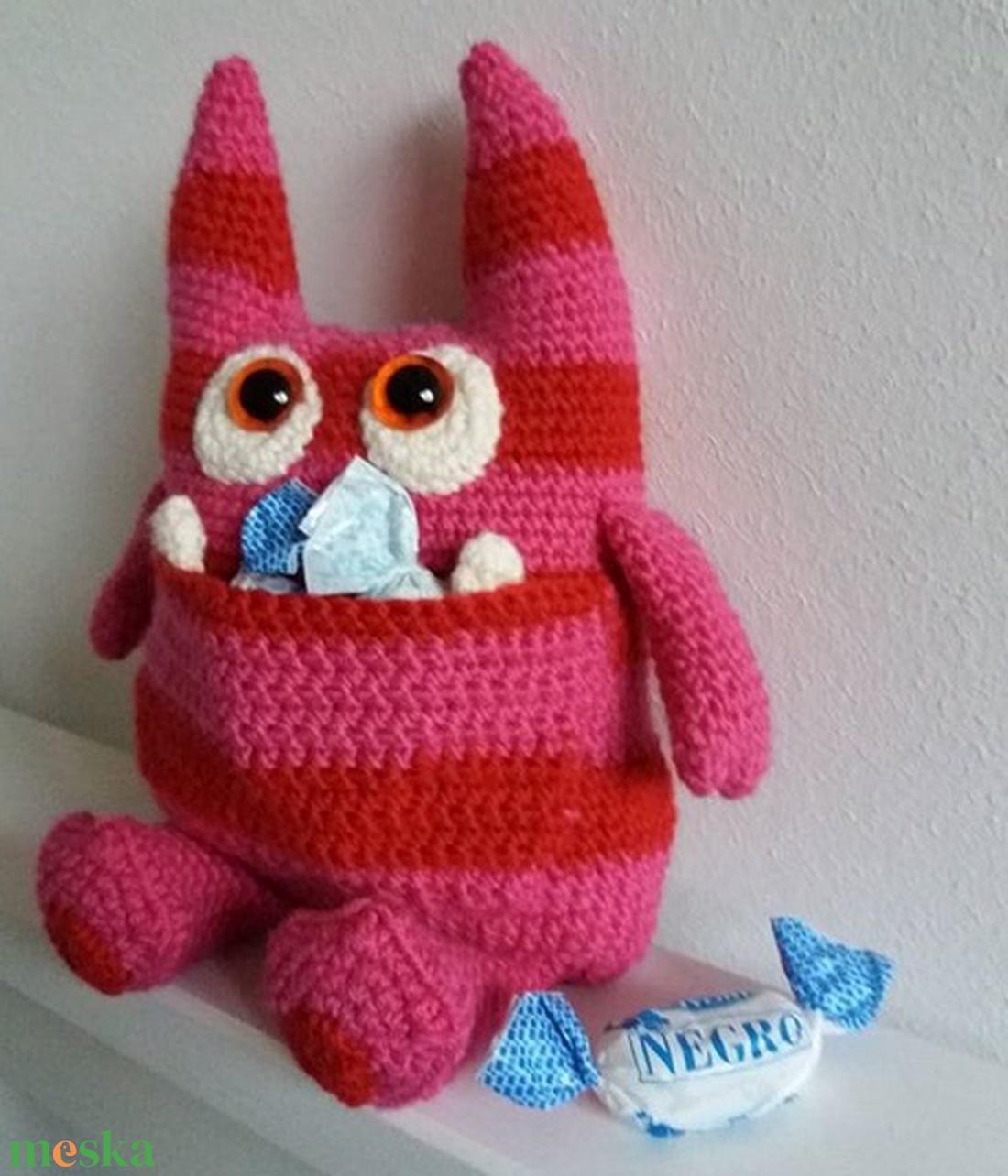 Zak, a kis szörnyecske =o) - játék & gyerek - plüssállat & játékfigura - szörnyike - Meska.hu