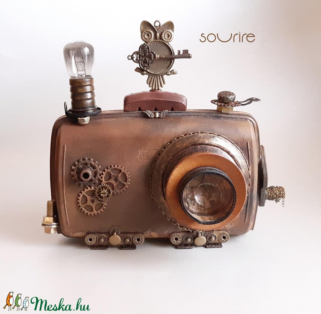 Steampunk fényképezőgép - otthon & lakás - dekoráció - dísztárgy - Meska.hu