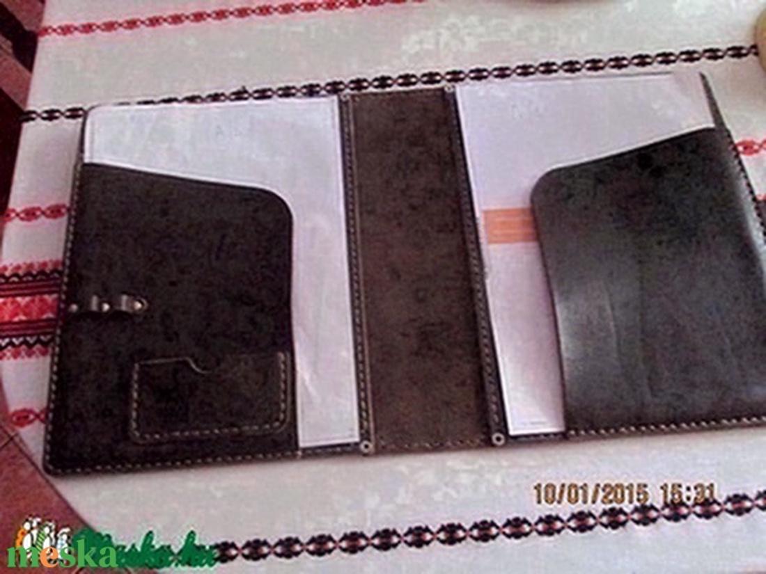 A/4-es bőrmappa egy újabb változatban - otthon & lakás - papír írószer - mappa - Meska.hu