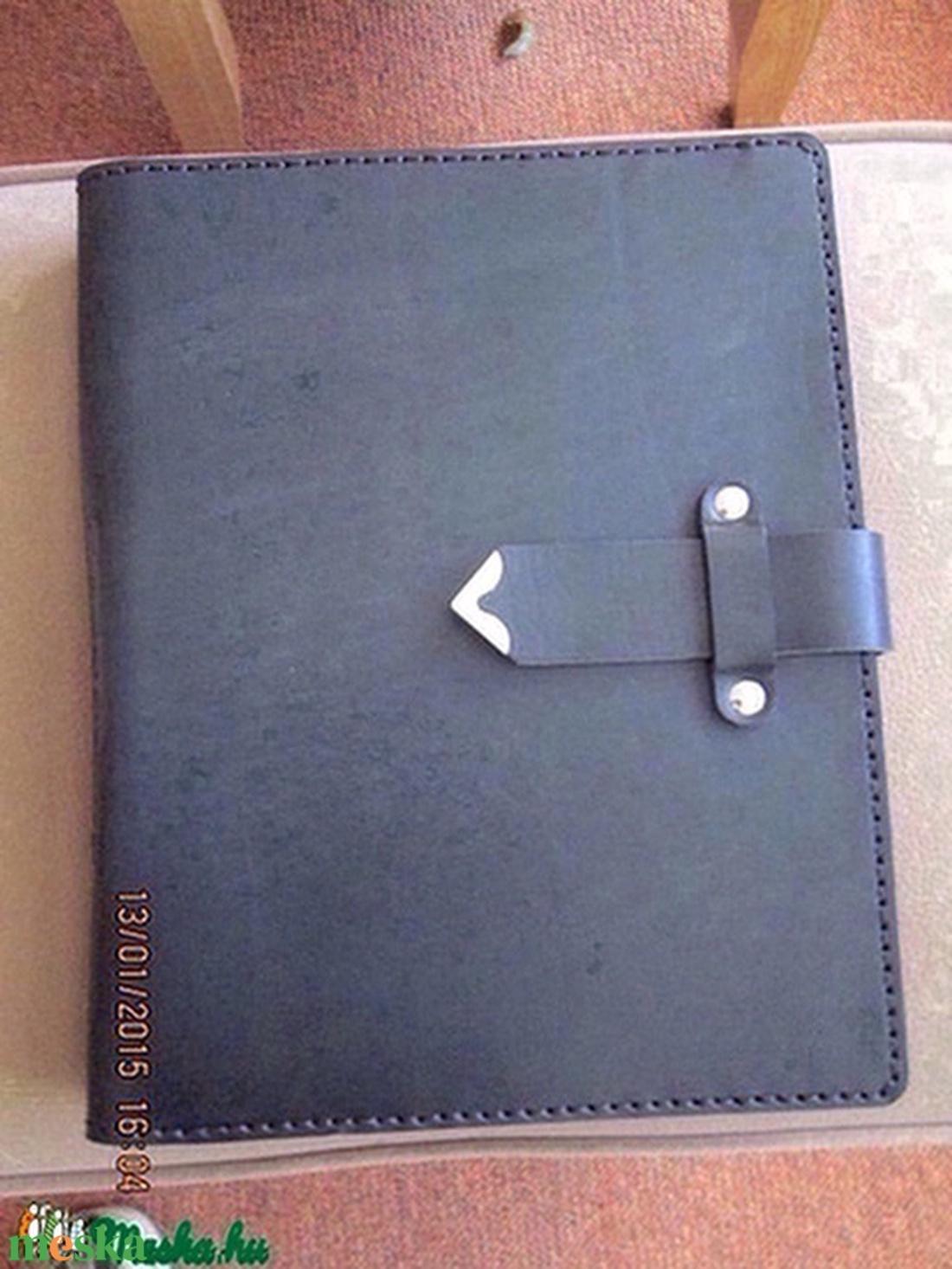 A/4-es mappa valódi bőrből egy kicsit másképpen fekete színben - otthon & lakás - papír írószer - mappa - Meska.hu