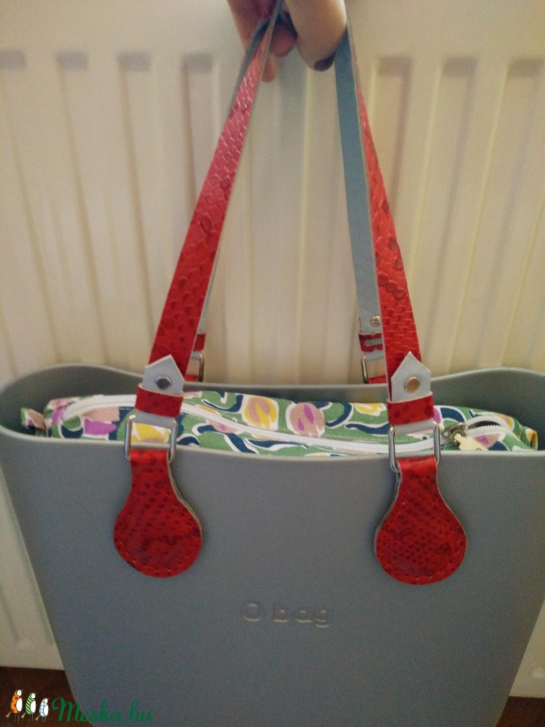 Mindkét oldalán használható O bag táskafül csodaszép kígyóbőr utánzatú valódi bőrből - táska & tok - táskapánt & alkatrész - Meska.hu