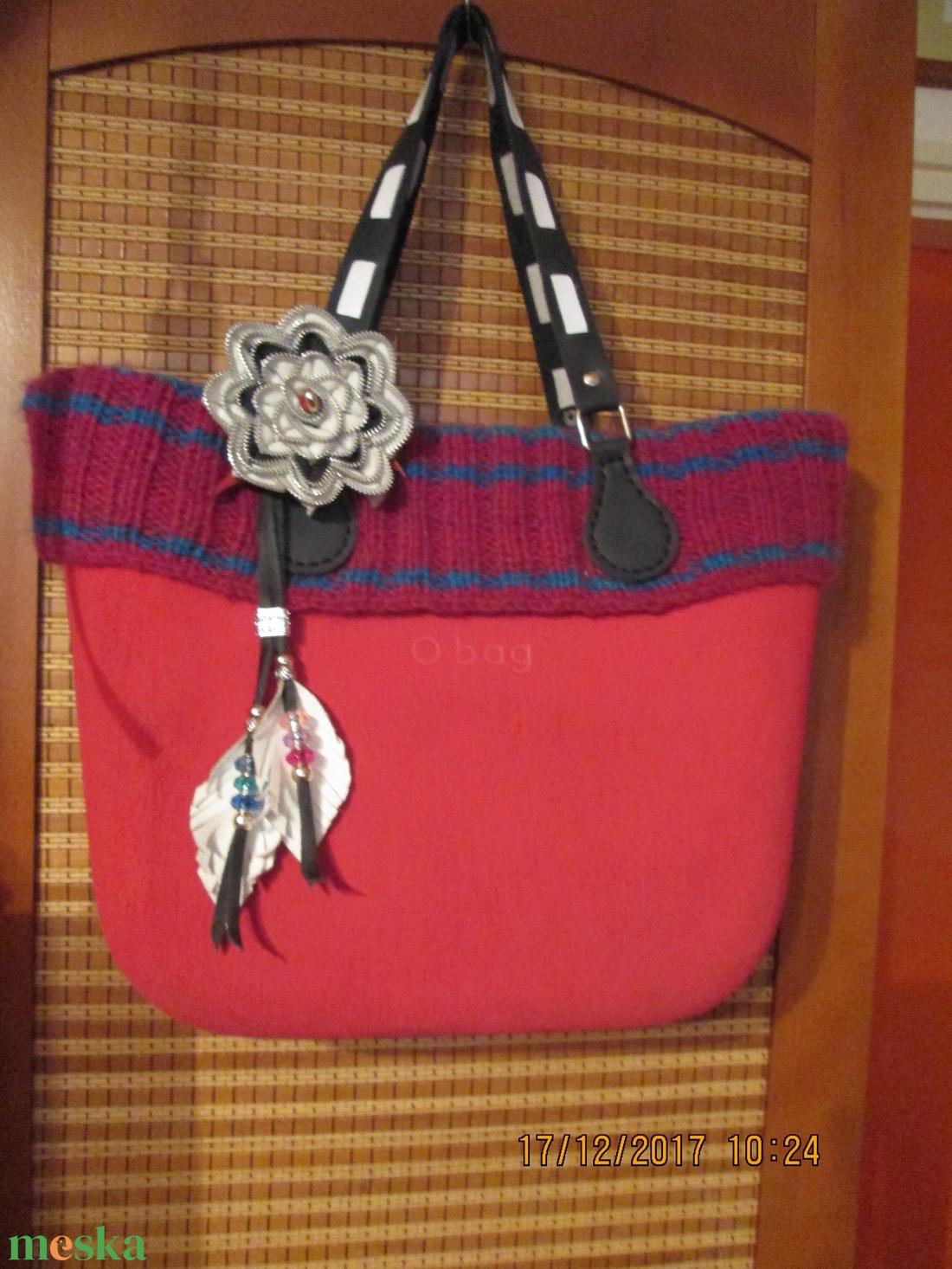 AKCIÓ!!! Leveles,gyöngyös táskadísz valódi bőrből - táska & tok - kulcstartó & táskadísz - táskadísz - Meska.hu