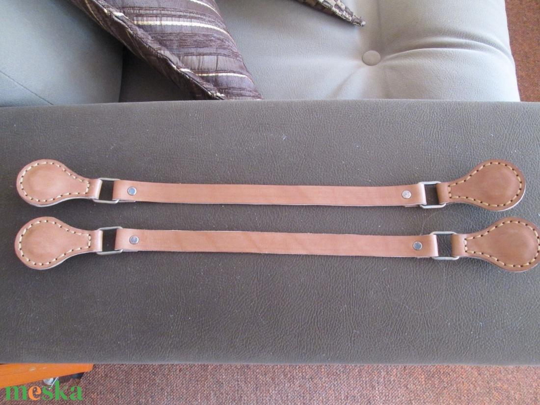 O bag kompatibilis táskafül bézs színű bőrből  {hasított bőrből is} - táska & tok - táskapánt & alkatrész - Meska.hu