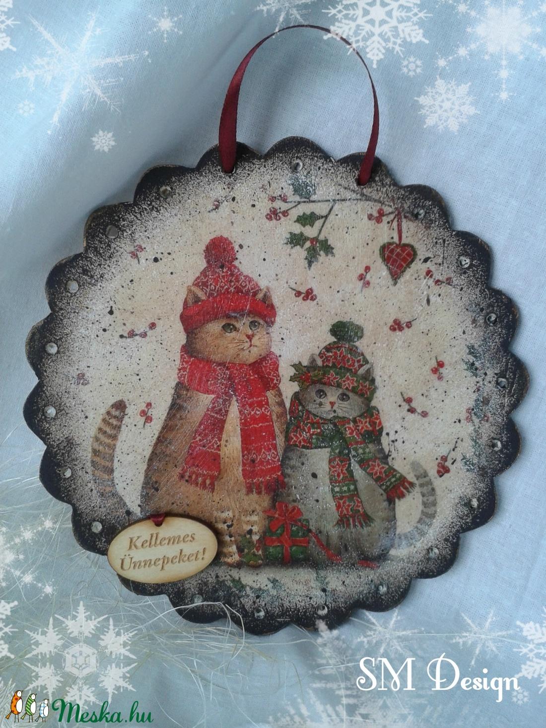 Karácsonyi ajtódísz (Steigusz) - Meska.hu