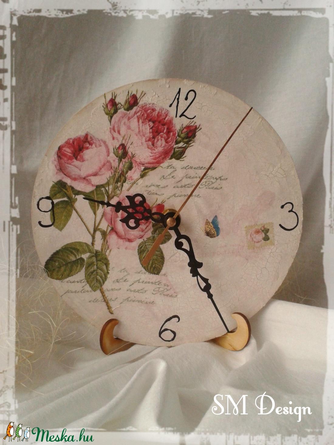 Rózsás óra (Steigusz) - Meska.hu