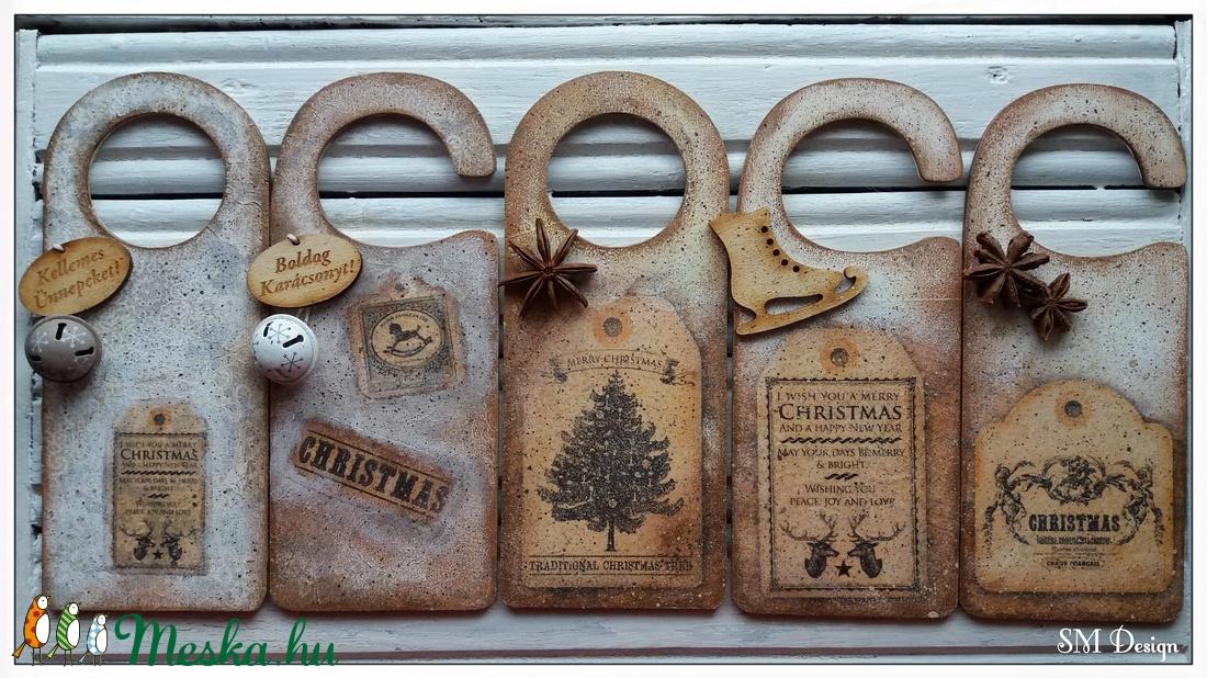 Karácsonyi üdvözlő ajtóra (5 darabos szett) (Steigusz) - Meska.hu