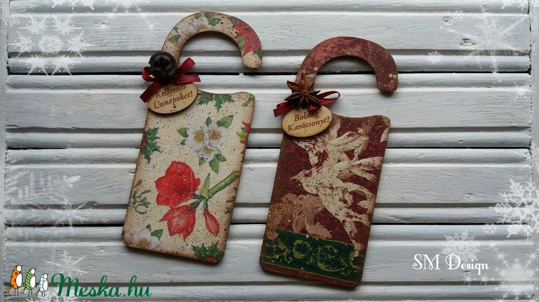 Karácsonyi üdvözlő ajtóra (2 darabos szett) (Steigusz) - Meska.hu