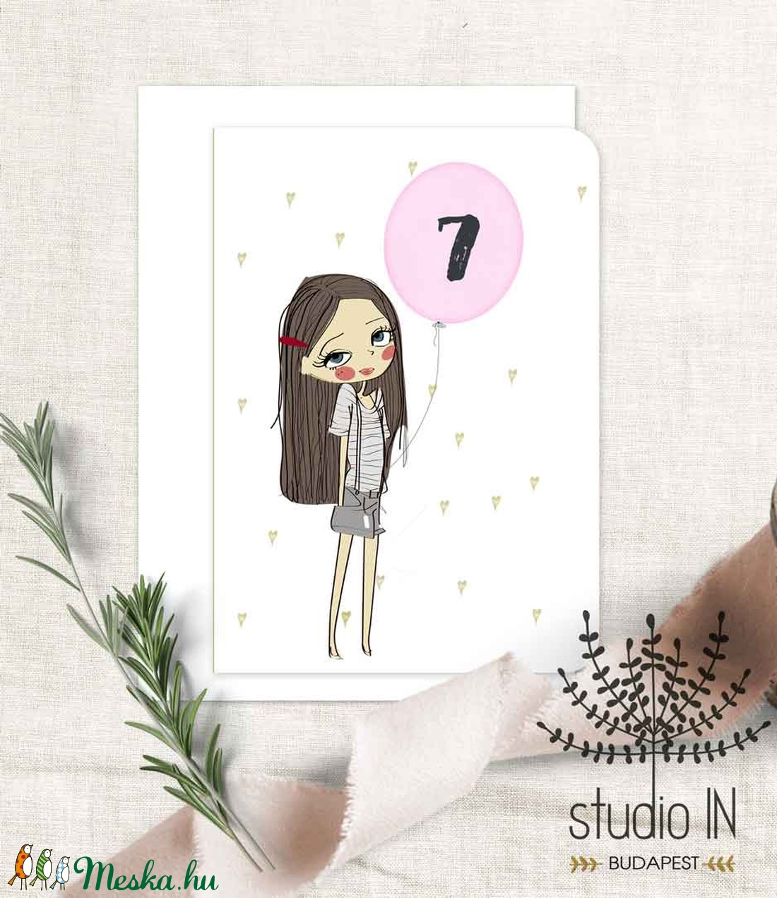 Születésnapi képeslap, csajos születésnap, születésnapi üdvözlő, képeslap (Studioin) - Meska.hu