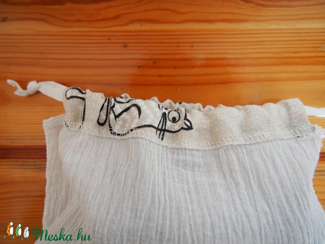 f3e764f0b951 ... 3 db összehúzható textil zsák, bevásárló táska, műanyag zacskó helyett  22 x 30 cm ...